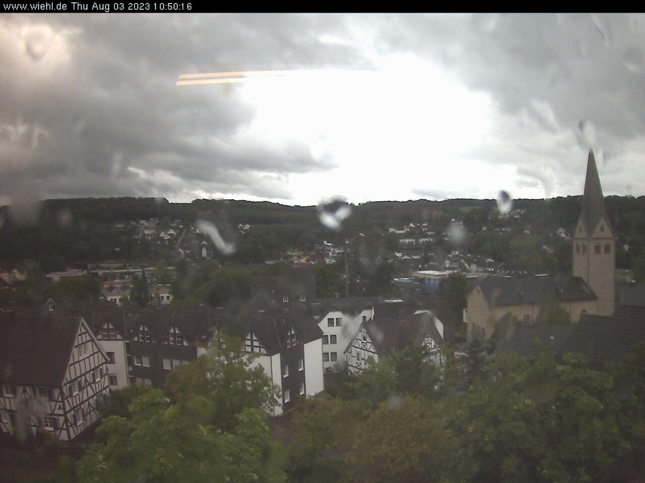 Wiehler Webcam - Ein Blick über die Dächer von Wiehl
